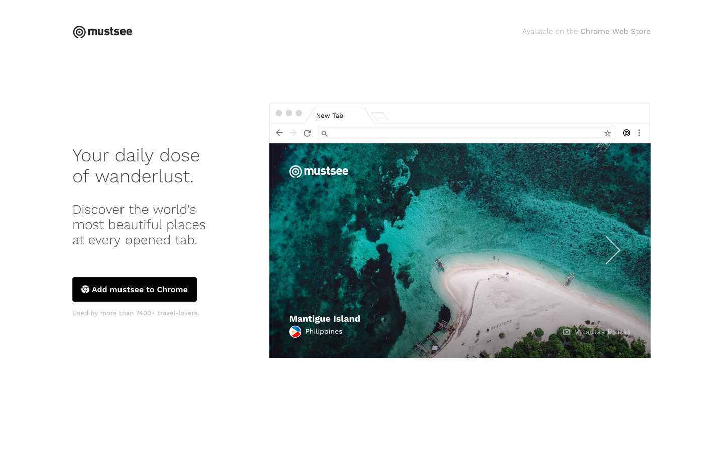 mustsee.earth - Chrome Extension